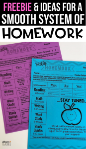 homework weekly editable free third grade