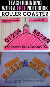 rounding rollercoaster math interactive notebook free