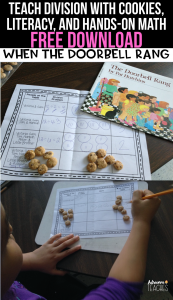 division cookies math freebie third grade