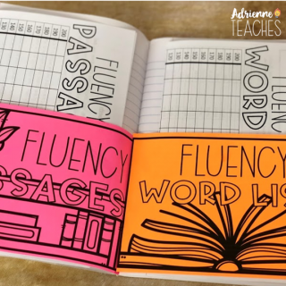 reading fluency notebook third grade