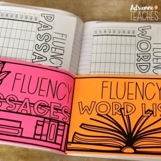 reading fluency notebook third grade