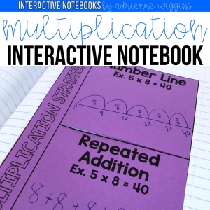 multiplication division interactive notebook