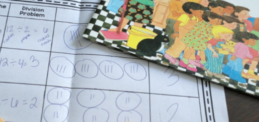 division cookies math interactive notebook freebie
