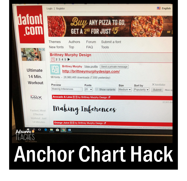 anchor chart hack made easy trace