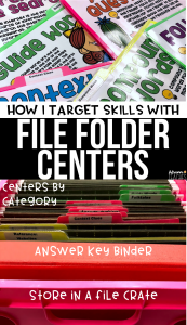 how i target skills with file folder centers in third grade organization
