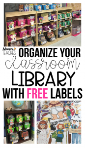 Classroom Library Organization Label