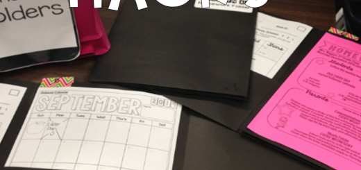 back to school organization homework folder teacher hack