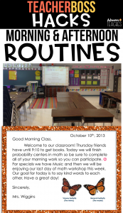 teacher classroom hack routines