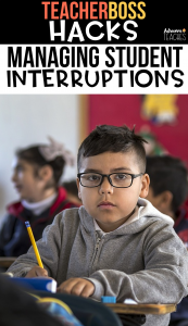 teacher classroom hack management student interruptions