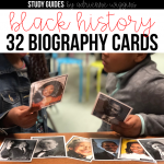 black history biography card necklace freebie