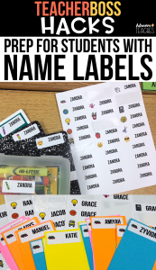 hack labels back to school organization