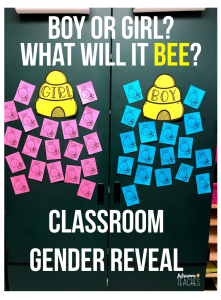 bee classroom gender reveal