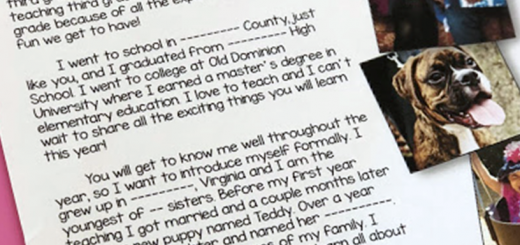 welcome back to school letter