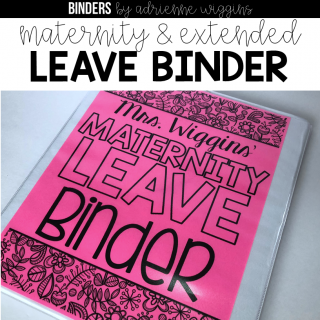 teacher maternity leave binder