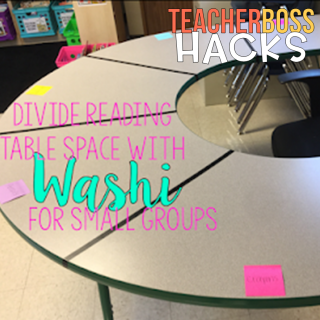 guided reading table classroom organization washi tape