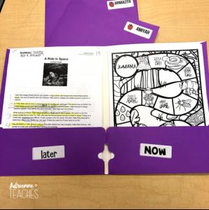 now later folder organize hack teacher third grade classroom